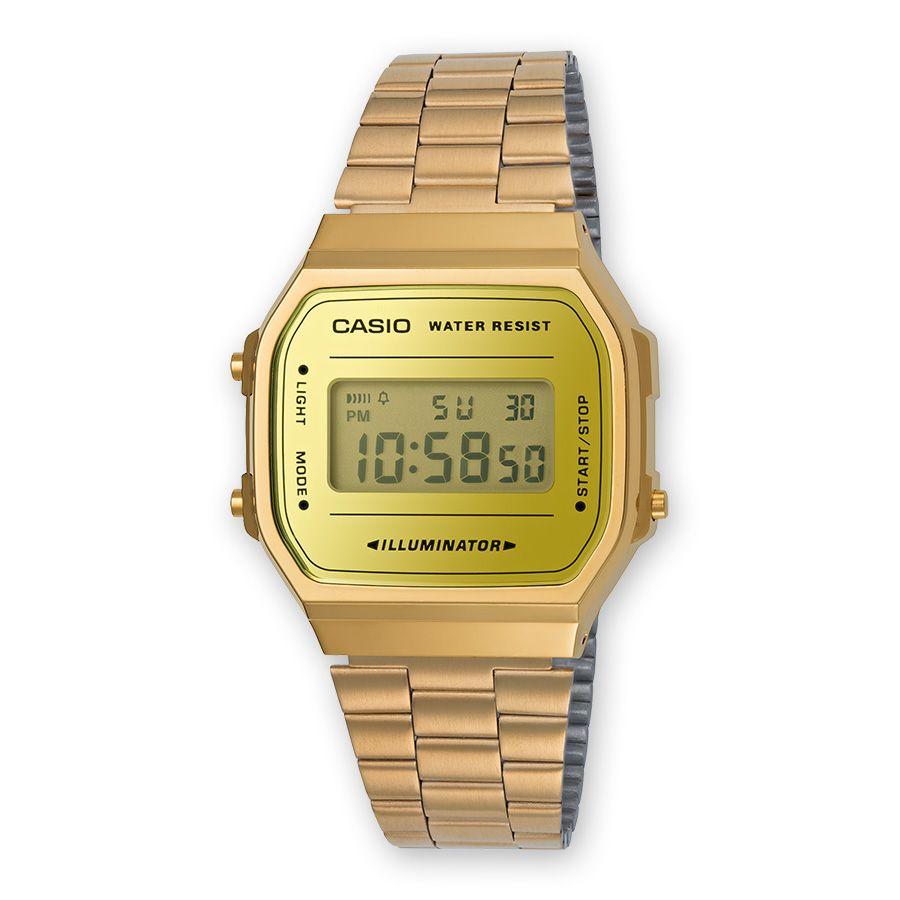 8e7a7674c5d5 reloj casio retro mirror dorado A168WEGM-9EF