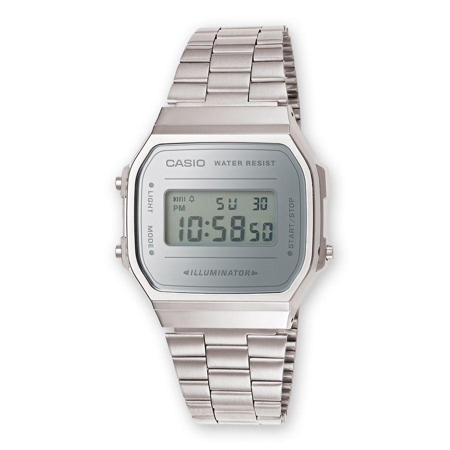 0d994e921681 reloj casio retro mirror gris A168WEM-7EF