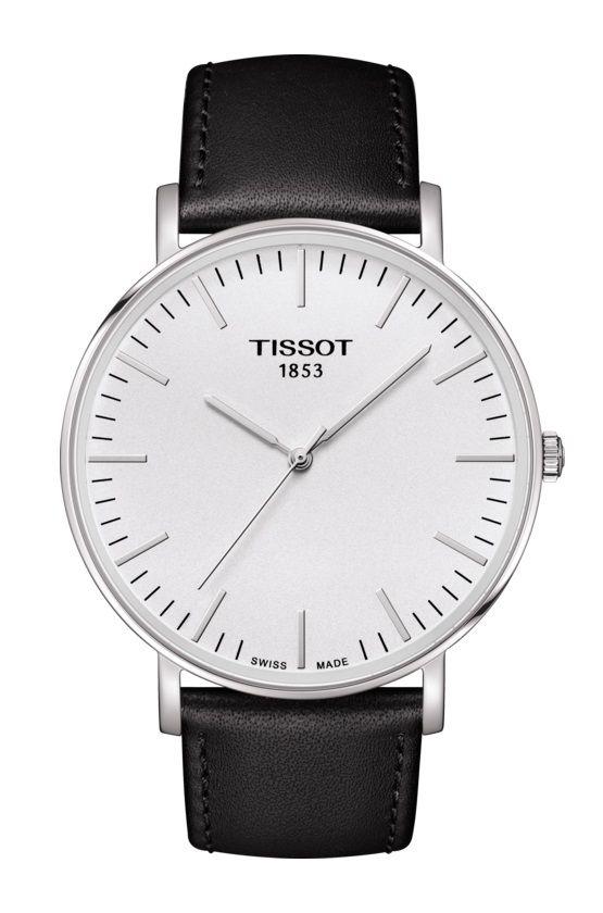 7e4b6700b259 Reloj de hombre TISSOT EVERYTIME large esfera blanca correa negra  T1096101603100